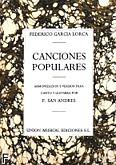 Okładka: Lorca Garcia Lorca, Canciones Populares