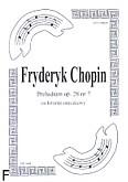 Okładka: Chopin Fryderyk, Preludium op. 28 nr 7 (partytura + głosy)