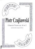 Okładka: Czajkowski Piotr, Chanson Triste op. 40 nr 2 (score + parts)