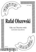 Okładka: Olszewski Rafał, Gdy się Chrystus rodzi na kwartet smyczkowy (partytura + głosy)