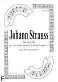 Ok�adka: Strauss Johann, Du Uno Du na kwartet smyczkowy. Walc na motywach operetki Zemsta Nietoperza (partytura + g�osy)