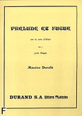 Ok�adka: Durufle Maurice, Prelude And Fugue, Op. 7