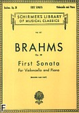 Ok�adka: Brahms Johannes, Sonata nr 1 e minor, op. 38 (Cello / Piano)