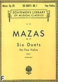 Okładka: Mazas Jacques-Féréol, 6 Duets, Op. 39 - Book 1