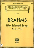 Okładka: Brahms Johannes, 50 Selected Songs (głos niski)