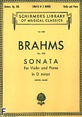 Ok�adka: Brahms Johannes, Sonata In D Minor, Op. 108 (Piano / Violin)