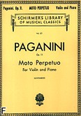 Ok�adka: Paganini Niccolo, Moto Perpetuo, Op. 11, No. 6 - for Violin and Piano