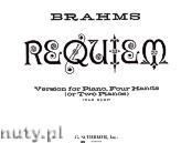Okładka: Brahms Johannes, Requeim, Op. 45