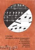 Okładka: Sperski Krzysztof, Utwory nieznanych polskich kompozytorów XVI i XVII wieku w transkrypcji na wiolonczelę i fortepian