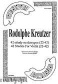 Ok�adka: Kreutzer Rodolphe, 42 etiudy na skrzypce (22-42)
