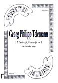 Ok�adka: Telemann Georg Philipp, 12 fantazji na alt�wk�, fantazja  1