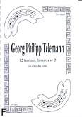 Ok�adka: Telemann Georg Philipp, 12 fantazji, fantazja nr 2