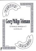 Okładka: Telemann Georg Philipp, 12 fantazji, fantazja nr 3