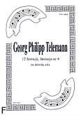 Okładka: Telemann Georg Philipp, 12 fantazji, fantazja nr 4