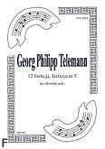 Ok�adka: Telemann Georg Philipp, 12 fantazji na alt�wk�, fantazja  5