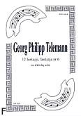 Okładka: Telemann Georg Philipp, 12 fantazji na altówkę, fantazja  6