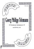Ok�adka: Telemann Georg Philipp, 12 fantazji na alt�wk�, fantazja  8