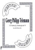 Okładka: Telemann Georg Philipp, 12 fantazji, fantazja nr 9
