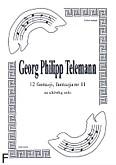 Ok�adka: Telemann Georg Philipp, 12 fantazji na alt�wk�, fantazja 11