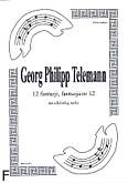 Okładka: Telemann Georg Philipp, 12 fantazji na altówkę, fantazja 12