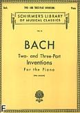 Okładka: Bach Johann Sebastian, Inwencje dwu- i trzygłosowe
