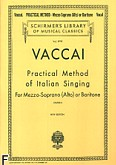 Ok�adka: Vaccai Nicola, Practical Method Of Italian Singing