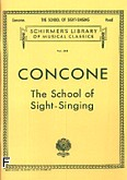Ok�adka: Concone Joseph, School Of Sight-singing