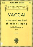 Okładka: Vaccai Nicola, Practical Method Of Italian Singing for high soprano