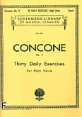 Okładka: Concone Joseph, 30 Daily Exercises, Op. 11 (głos wysoki)