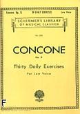 Okładka: Concone Joseph, 30 Daily Exercises, Op. 11 (głos niski)