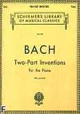 Okładka: Bach Johann Sebastian, Inwencje dwugłosowe