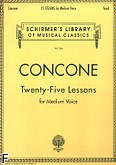 Okładka: Concone Joseph, 25 Lessons for Medium Voice, Op. 10