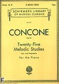 Okładka: Concone Joseph, 25 Melodic Studies, Op. 24