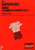 Okładka: Kabalewski Dymitr, Rondo In Memory Of Prokofieff, Op. 79