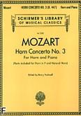 Okładka: Mozart Wolfgang Amadeusz, Koncert na róg F nr 3 (róg i fortepian)
