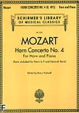 Okładka: Mozart Wolfgang Amadeusz, Koncert na róg F nr 4 (róg i fortepian)