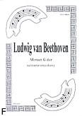 Okładka: Beethoven Ludwig van, Menuet G na kwartet smyczkowy (partytura + głosy) opr.Rafał Olszewski