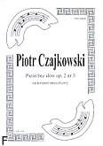 Okładka: Czajkowski Piotr, Pieśń bez słów, op. 2 nr 3 (partytura + głosy)