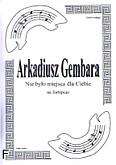 Ok�adka: Gembara Arkadiusz, Nie by�o miejsca dla Ciebie na fortepian