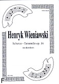 Okładka: Wieniawski Henryk, Scherzo-Tarantelle op. 16 na akordeon