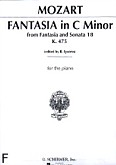Ok�adka: Mozart Wolfgang Amadeusz, Fantasia In C Minor KV 475