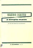 Ok�adka: Smith Gregg, A Simple Mass