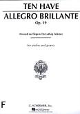 Ok�adka: Ten Have W., Allegro Brillante, Op. 19 for Violin and Piano