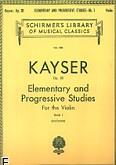 Okładka: Kayser Heinrich Ernst, 36 Elementary & Progressive Studies, Op. 20 - Book 1 (Violin)
