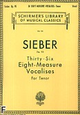 Okładka: Sieber Ferdinand, 36 Eight-measure Vocalises, Op. 95