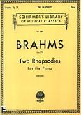 Ok�adka: Brahms Johannes, 2 Rhapsodies, Op. 79