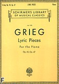 Ok�adka: Grieg Edward, Lyric Pieces - Volume 2: Op. 43, Op. 47