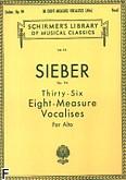 Okładka: Sieber Ferdinand, 36 Eight-measure Vocalises, Op. 94