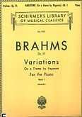 Ok�adka: Brahms Johannes, Variations on a Theme by Paganini, Op. 35 - Book 1