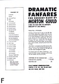 Okładka: Gould Morton, Dramatic Fanfares (głos dyrekcyjny)